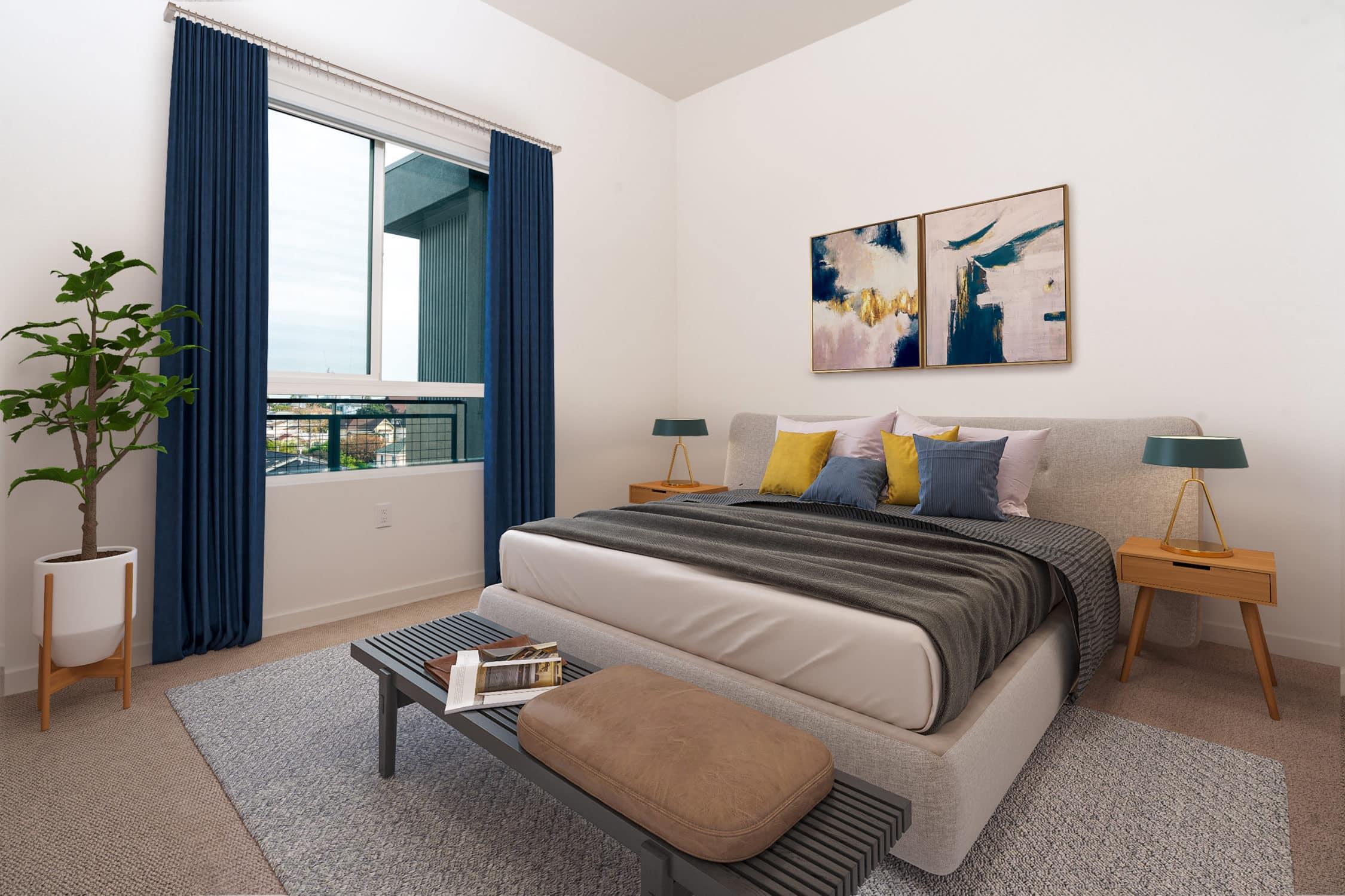 12PH Alexan Bahay PH16 Bedroom Rendering